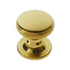 Banham Contour Centre Door Knob Polished Brass
