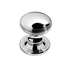 Banham Contour Centre Door Knob Polished Chrome