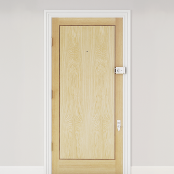 Banham Fire Door American White Oak Walnut Inlay