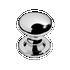 Banham Profile Centre Door Knob Polished Chrome