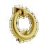 Banham Ring Door Knocker Satin Brass