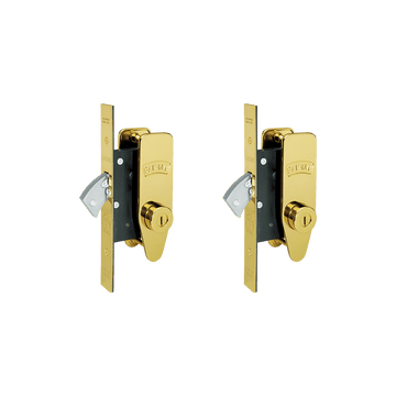 Banham M2002 Deadlock Kit Polished Brass