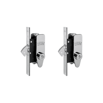 Banham M2002 Deadlock Kit Polished Chrome