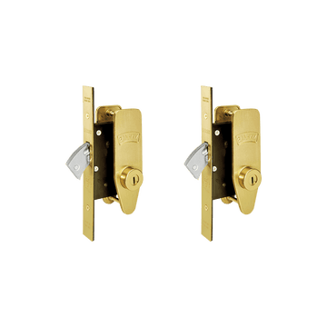 Banham M2002 Deadlock Kit Satin Brass