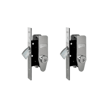 Banham M2002 Deadlock Kit Satin Chrome