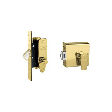 Banham FD5000 + M2003 Lock Kit Polished Brass