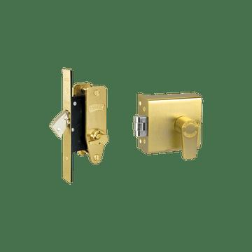 Banham FD5000 + M2003 Lock Kit Satin Brass