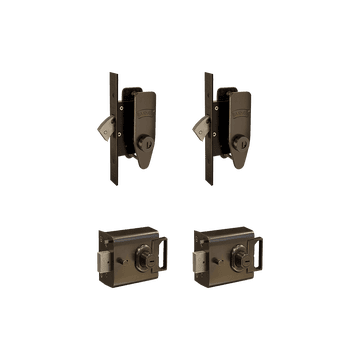Banham L2000 (x2) + M2002 (x2) Lock Kit Dark Bronze