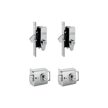 Banham L2000 (x2) + M2002 (x2) Lock Kit Polished Chrome