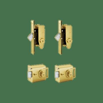 Banham L2000 (x2) + M2002 (x2) Lock Kit Satin Brass