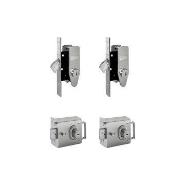 Banham L2000 (x2) + M2002 (x2) Lock Kit Satin Chrome