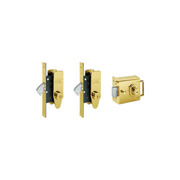 Banham L2000 and M2002 (x2) Lock Kit Polished Brass