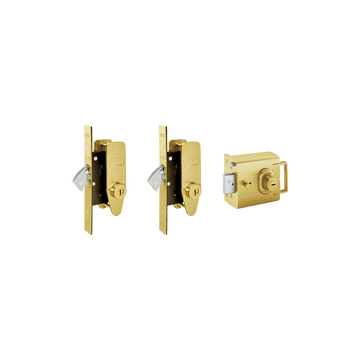 Banham L2000 and M2002 (x2) Lock Kit Satin Brass