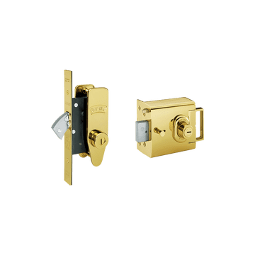 Banham L2000 and M2002 Lock Kit Polished Brass