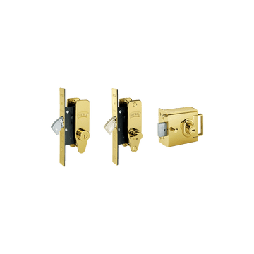 Banham L2000 + M2002 + M2003 Lock Kit Polished Brass