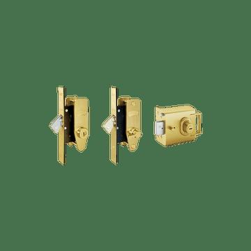 Banham L2000 + M2002 + M2003 Lock Kit Satin Brass