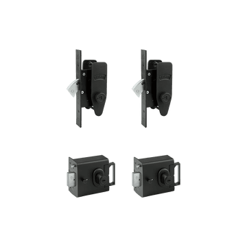 Banham L2000 (x2) + M2002 (x2) Lock Kit Black