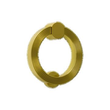Bloomsbury Reeded Circular Door Knocker Polished Brass