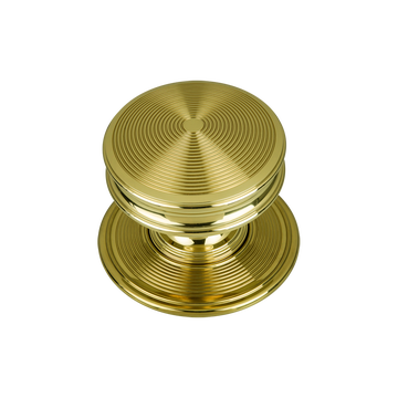 Bloomsbury Classic Reeded Door Knob Polished Brass