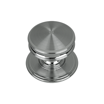 Bloomsbury Classic Reeded Door Knob Polished Chrome