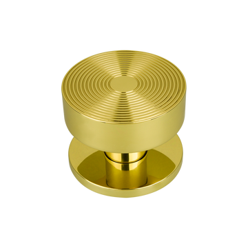 Bloomsbury Small Reeded Centre Door Knob Polished Brass