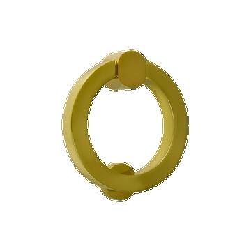 Marylebone Circular Door Knocker Polished Brass