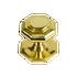 Small Octagonal Door Knob Polished Brass