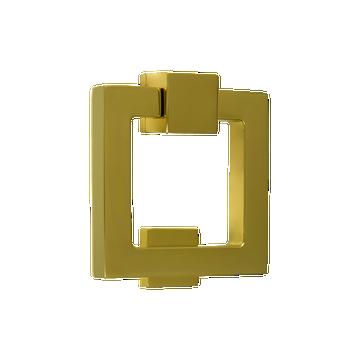 Soho Square Door Knocker Polished Brass