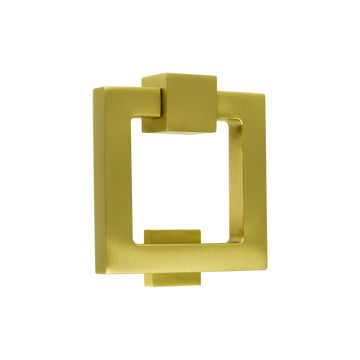 Soho Square Door Knocker Satin Brass