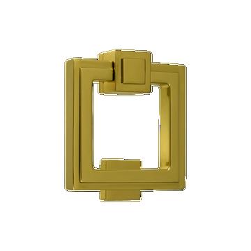 Soho Stepped Door Knocker Polished Brass