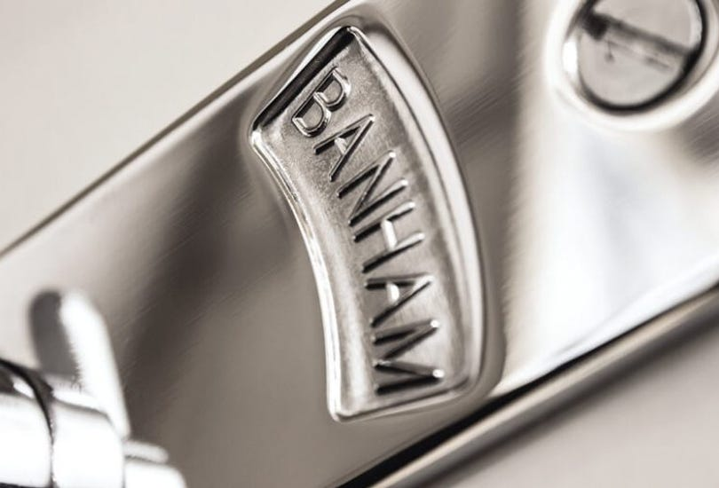 A close-up image of a Banham lock which meets the BS3621 standards.