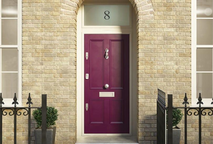 A Banham door complete with locks for effective burglar resistance.